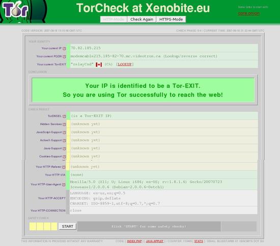 schermata torcheck