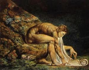 Isaac Newton, di William Blake, 1795.