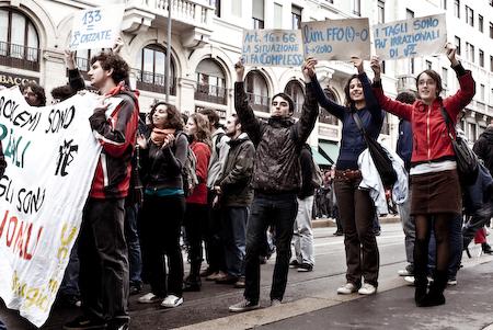 studenti di matematica in sciopero a Milano