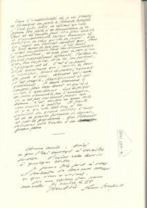 Manoscritto autografo di Beckett della lettera in difesa di Arrabal