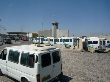 un checkpoint di ingresso a Gerusalemme