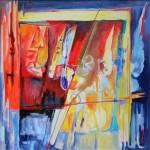 2009, Vite Parallele, cm 100.100, olio e acrilico su tela_rid