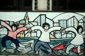 Murale a Scampia di Felice Pignataro. Foto Francesco Di Martino 2009