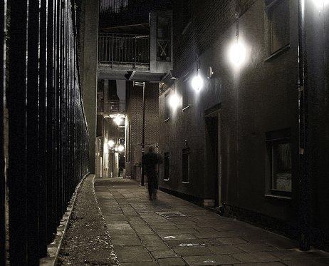 Strada di Firenze di notte