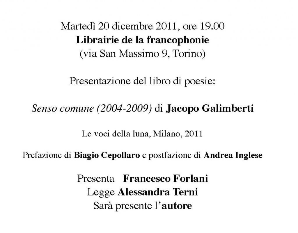 Un modo per dirsi addio (2011): Jacopo Galimberti alla Librairie Voyelles di Torino