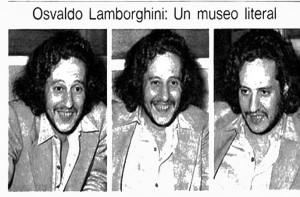 Do you remember Osvaldo Lamborghini?