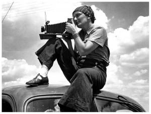 Dorothea Lange ritratta da Paul S. Taylor, 1934