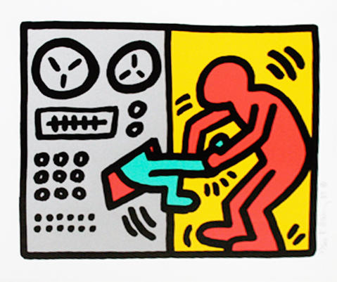 Pop Shop III N°3, di Keith Haring, 1989