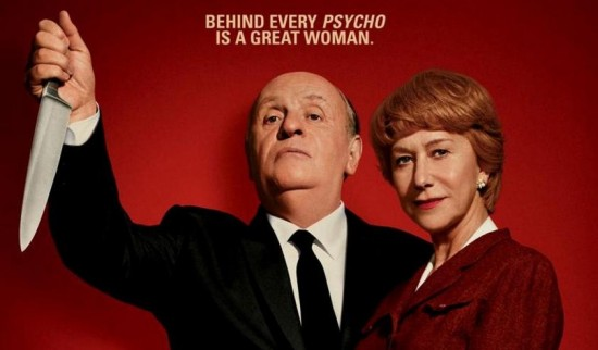 Un poster del film Hitchcock, di Sacha Gervasi, 2013