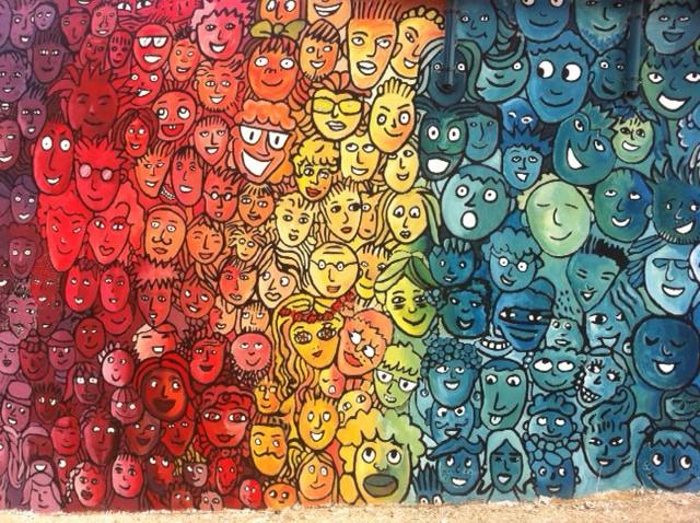 Murales realizzato dall'Associazione Colors Revolution a Lampedusa