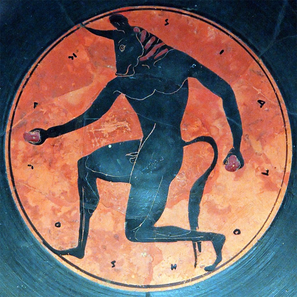 Il Minotauro. Antica medaglia attica. © Marie-Lan Nguyen / Wikimedia Commons / CC-BY 2.5