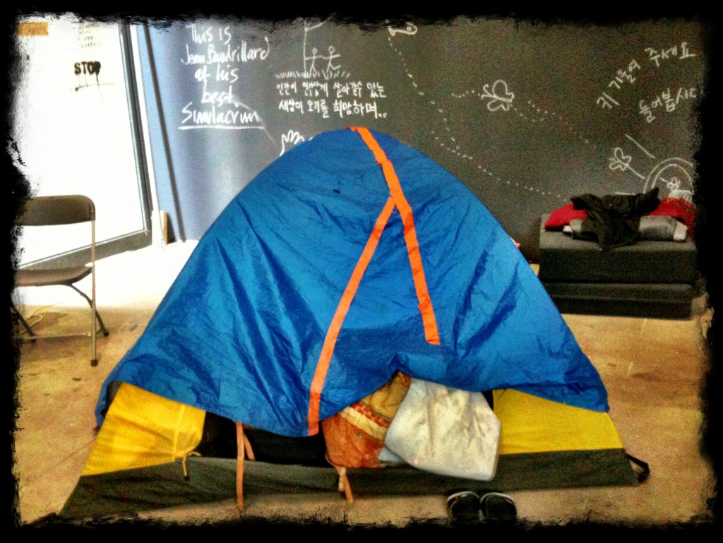 Tenda Occupy. Berlino 2012