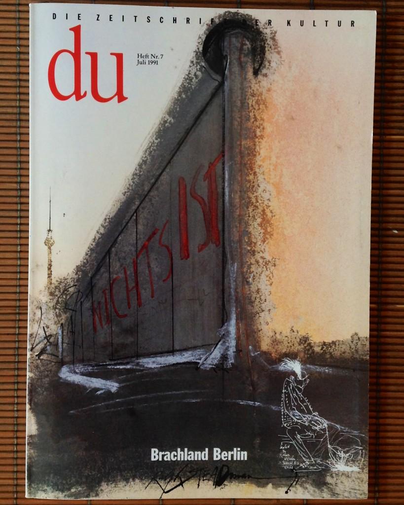 """«Du», numero monografico su Berlino, """"Terra di nessuno"""", 1991."""