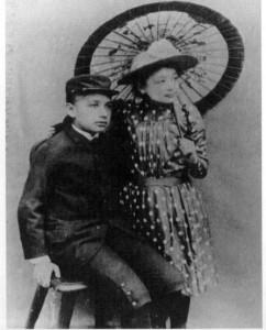 Einstein a 12 anni con la sorella Maja