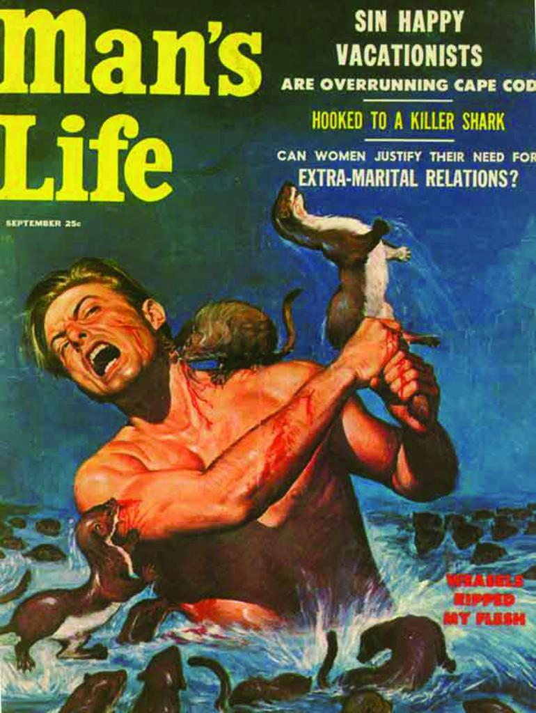Cover di «Man's Life», 1956