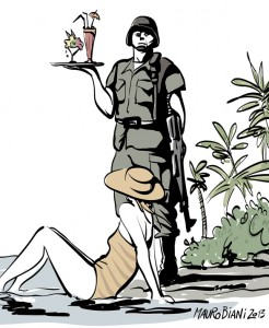 Vignetta di Mauro Biani apparsa sul Manifesto 20 agosto 2013