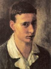 autoritratto giovanile di Cesare Cattaneo