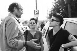 Gianfranco Pannone durante la lavorazione del documentario.
