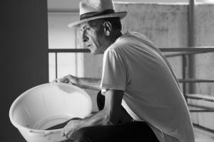 Matteo Fraterno uno dei protagonisti del documentario Sul Vulcano.