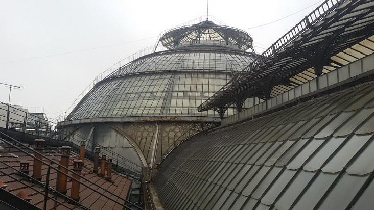 sui tetti della Galleria