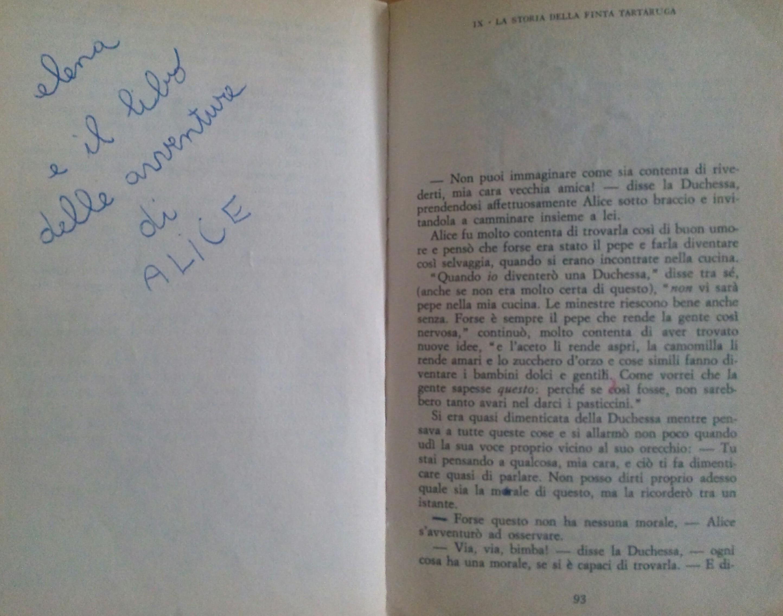 vecchio libro scritta Cristina