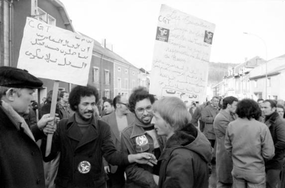 643/5-3  Liquidation de la Siderurgie en Lorraine-  Vallee de Longwy -21 et 22/2/1979- immigrŽs syndicat grve ©Gerald Bloncourt