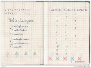 quaderno di scuola anni 50