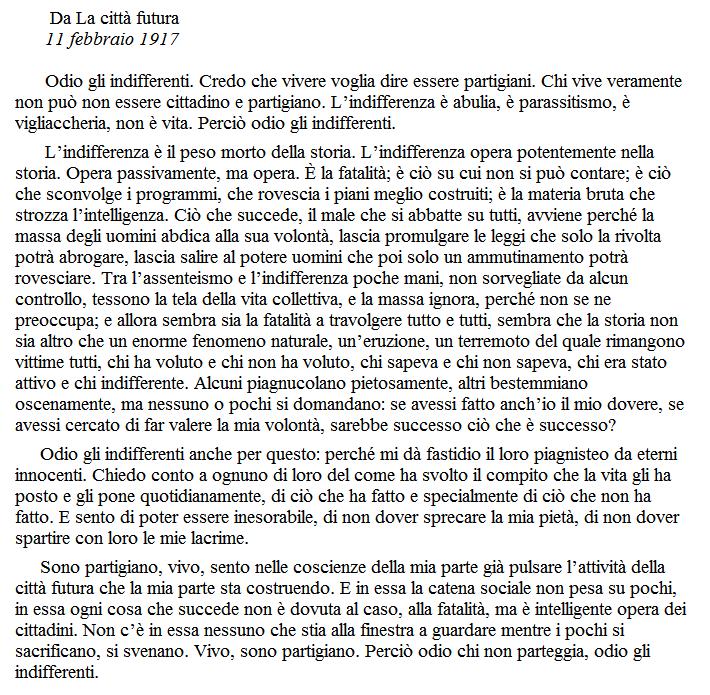 "Antonio Gramsci Lettere Dal Carcere: ""Vivo, Sono Partigiano."" ANTONIO GRAMSCI[22 Gennaio1891-27"
