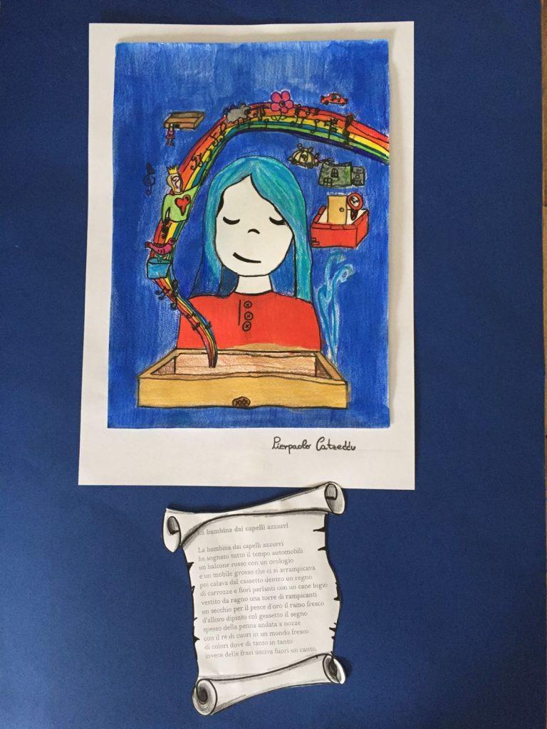 la bambina dai capelli azzurri