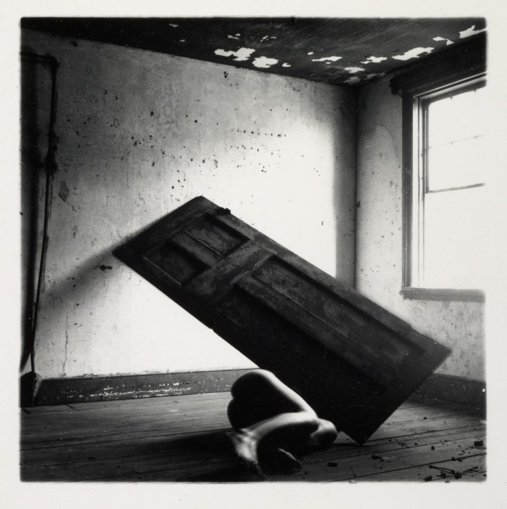Untitled 1975-80 Francesca Woodman 1958-1981 ARTIST ROOMS Acquired jointly with the National Galleries of Scotland through The d'Offay Donation with assistance from the National Heritage Memorial Fund and the Art Fund 2008 http://www.tate.org.uk/art/work/AR00357