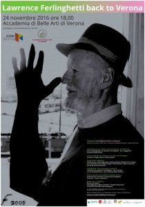 Ferlinghetti back to Verona (via skype): due foto e due testimonianze