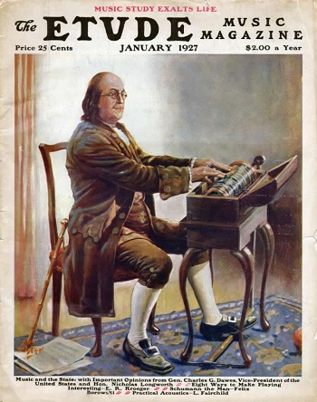 Benjamin Franklin inventore della Glass Harmonica [1761]