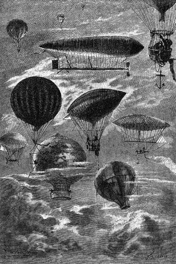 """J. Verne """"Robur il conquistatore"""" ill. di George Roux"""