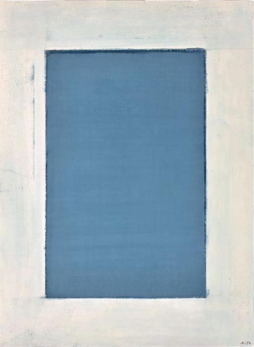 «Fenêtre atlantique», 1990, huile sur papier
