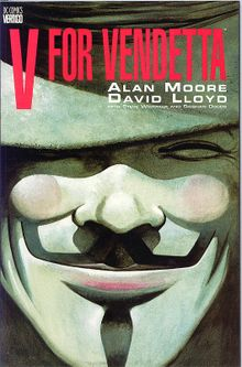 V for Vendetta cover by Alan Moore