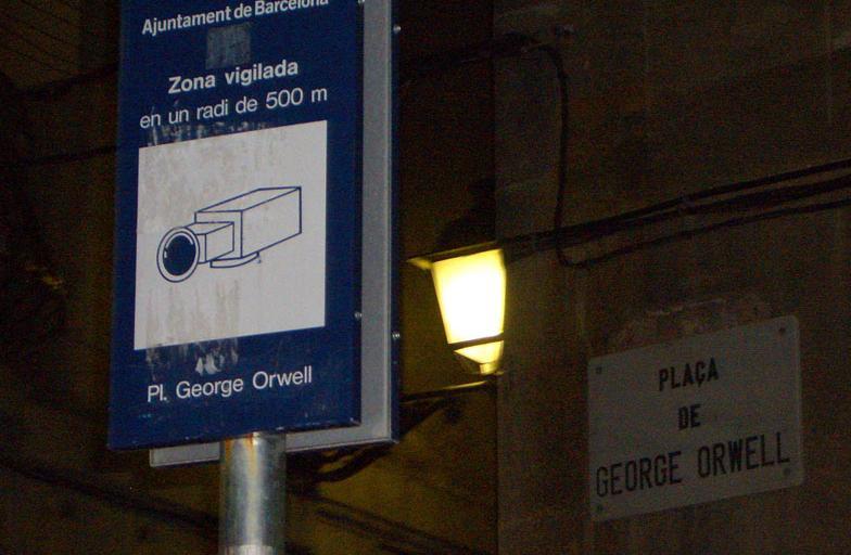 piazza George Orwell videosorvegliata